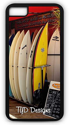 iPhone 6 Plus 6+ Case Surf Shop Wave Rental Board Ocean Sea Hawaii Customizable TYD Designs in Black Plastic
