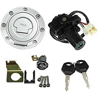 Sale Jahyshow Ignition Switch Gas Cap Cover Seat Lock Key Set For Yamaha YZF R1 R6 2001-2012