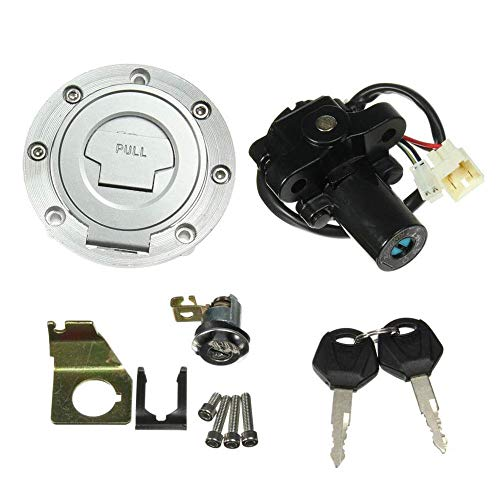 Jahyshow Ignition Switch Gas Cap Cover Seat Lock Key Set For Yamaha YZF R1 R6 2001-2012