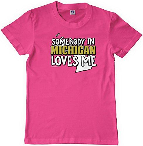 Threadrock Big Girls' Somebody in Michigan Loves Me Youth T-