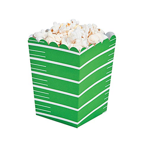 Fun Express - Mini Football Popcorn Boxes (24pc) - Party Supplies - Containers & Boxes - Paper Boxes - 24 -