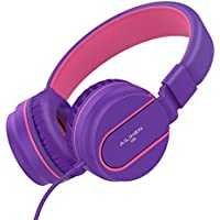 Ailihen I35-PURPLE On-Ear 3.5mm Wired Lightweight Foldable Headphones (Purple)