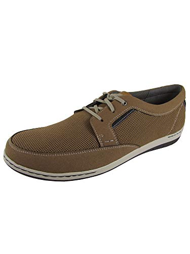 - Dunham Mens FitSwift Lace Up Sneaker Shoes, Tan, US 14 W