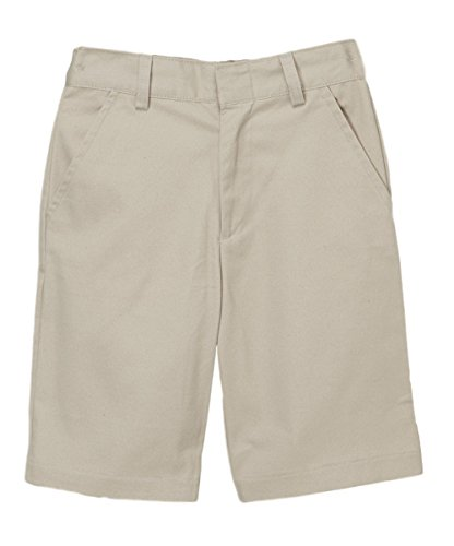 Adjustable Khaki Waist (unik Boy's Uniform Shorts with Adjustable Waist, SBU31 Khaki 14)