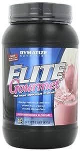 Dymatize Nutrition Gourmet Elite, Strawberries and Cream, 2-Pound