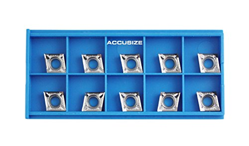 Accusize Tools - 10 Pcs CCGT09T304-AK for Aluminum, 0.015