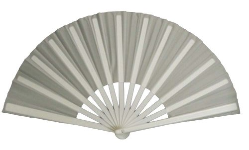 White Performance Folding Fan #3000 (Dance Costumes On Stage)