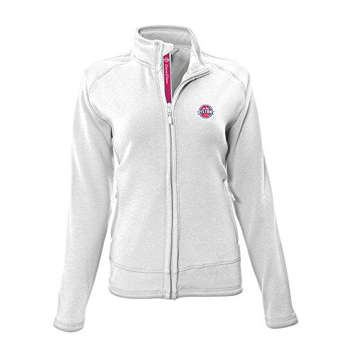 - Levelwear NBA Detroit Pistons Adult Women Tranquil Team Script Full Zip,Large,White