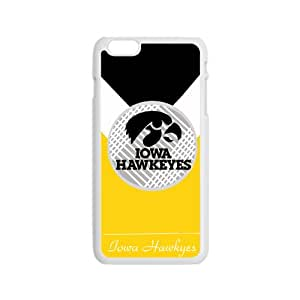 SANLSI Iowa Hawkeyes NCAA Logo Cell Phone Case for Iphone 6