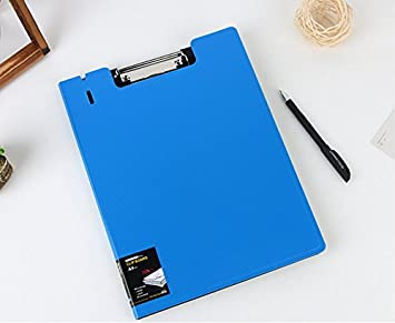 A4 Size Clipboard Board Clip File Folder Writing Support Pad Pen Holder Office