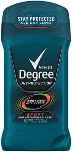 Degree Men Antiperspirant Deodorant Stick Sport 48 Hour Protection 2.7 oz, (pack of 6)