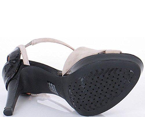 Geox Damen Sandale D IVANA S.A. Grau/Schwarz D22Q2A 00021 C0060 (DO-317) (Gr. 36)