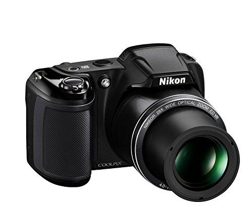418knePeNjL - Nikon Coolpix L340 20.2 MP Digital Camera with 8GB memory card bundle (28x Optical Zoom, 3.0-Inch LCD, 720P Video, Black, US model)