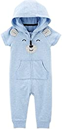 Baby Boys Bear Hooded Jumpsuit