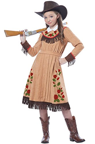 Mememall Fashion Western Cowgirl Annie Oakley Child Costume (Childs Deluxe Cowgirl Costume)