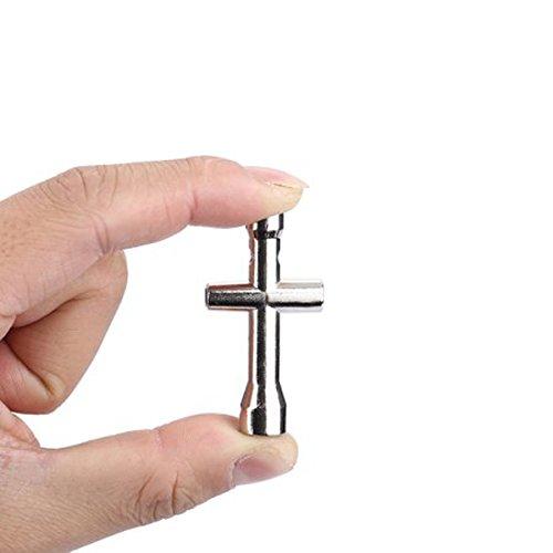 Wishfive Mini Cross Socket Wrench Spanner M2 M2.5 M3 M4 for RC Model Sliver