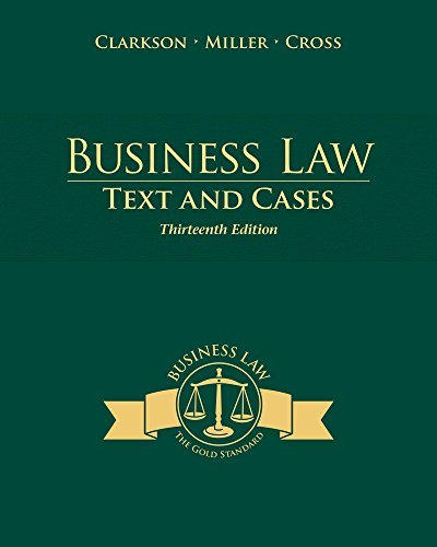 Download By Kenneth W. Clarkson Bundle: Business Law: Text and Cases, 13th + MindTap(TM) Business Law Printed Access Card (13th Edition) [Hardcover] pdf