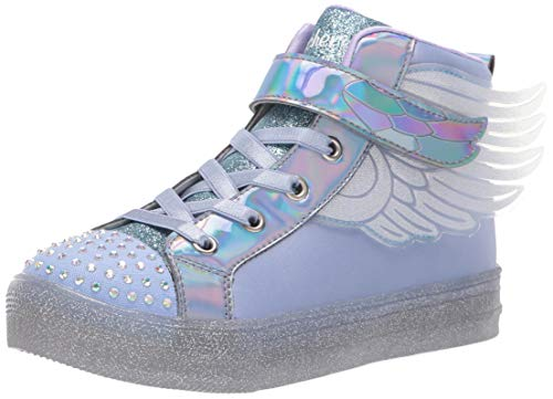 Skechers Kids Girls' Shuffle Brights-Sparkle Wings Sneaker Periwinkle 12 Medium US Little - Sparkle Wings