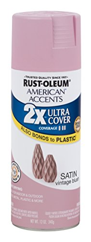 Rust-Oleum 302630 American Accents Ultra Cover 2x Satin, Vintage Blush (Rust Colors Oleum)