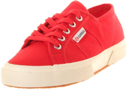 Superga Unisex 2750 Cotu  Red Classic Sneaker - 35 M EU / 5 B(M) US Women / 3.5 D(M) US Men