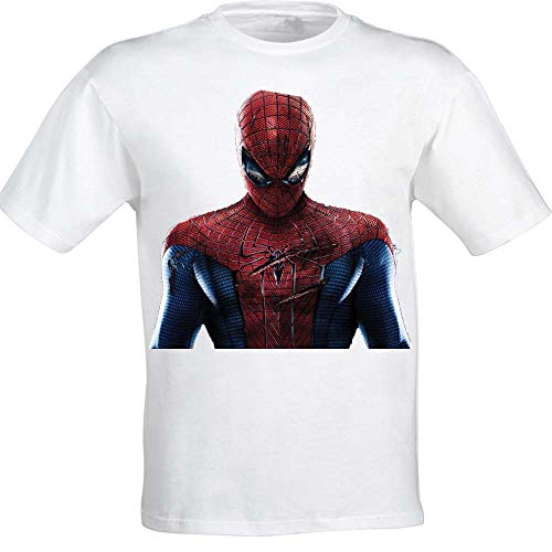 Sharvgun Amazing Spider Man Unisex Printed Summer Casual Short Sleeve T Shirts Tees White
