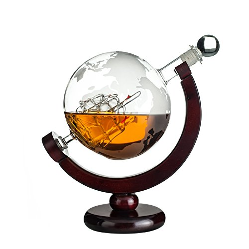 World Globe Decanter For Scotch