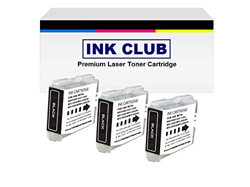LC51 BLACK 3-Pack Compatible with Brother Black Ink Cartridge for MFC 230C 240C 350C 440CN 465CN 3360C 5460CN 5860CN 665CW 685CW 845CW - Black Ink Lc51