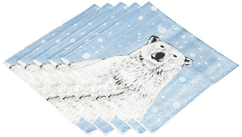Ideal Home Range 20-Count Light Nanouk Paper Luncheon Napkins, -