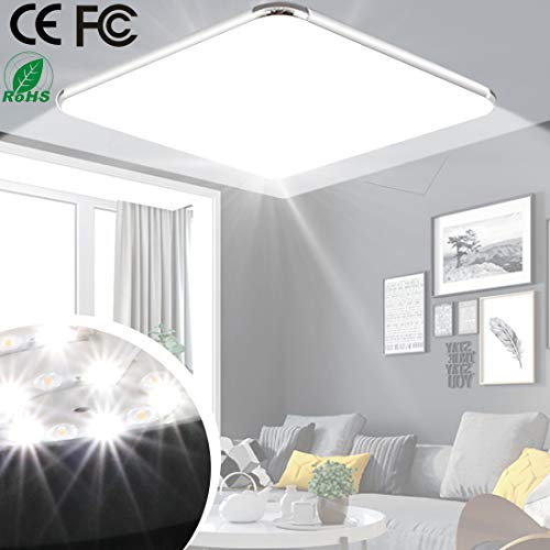 24W 17.7inch LED Ceiling Light Office Lamp 6500K Lighting Living Room Kitchen Bathroom Bedroom Hotels