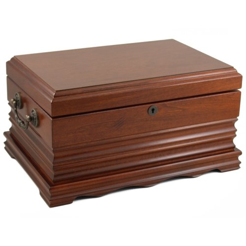 The Tradition 125 Cigar Solid Wood Antque Humidor by Cheaphumidors