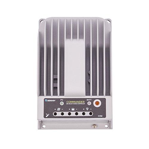 - Renogy Commander 20 Amp 12V/24V MPPT Negative Ground Solar Charge Controller Regulator Compatible with Sealed Lead-acid, Flooded, Gel Batteries and MT-50 Tracer Meter