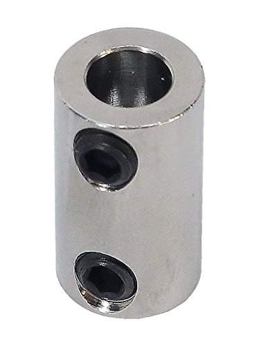 1/8 inch to 6mm Stainless Steel Set Screw Shaft Coupler