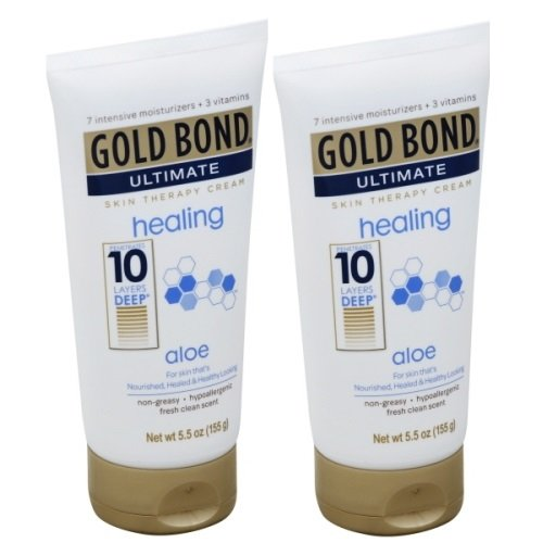 Skin Therapy Cream - Gold Bond Ultimate Skin Therapy Lotion, Healing, Aloe, 5.5 oz, (Pack of 2)