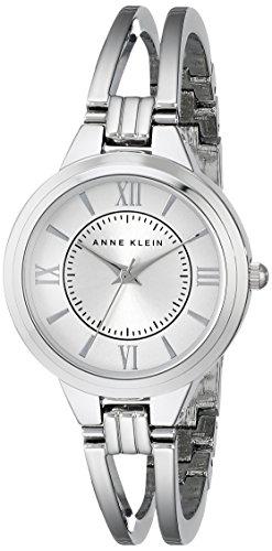 Anne Klein Women's AK/1441SVSV Silver-Tone Bangle Watch
