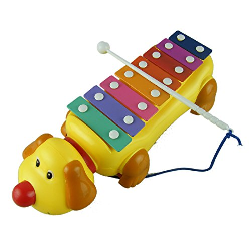 DDLBiz Children Gift Dog 8 Sounds Knock Musical Movement Toy