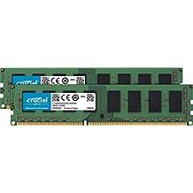 Crucial 16GB Kit (8GBx2) DDR3L 1600 MT/s (PC3L-12800)  Unbuffered UDIMM  Memory CT2K102464BD160B