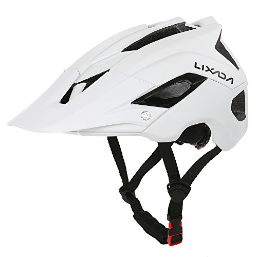 Lixada Mountain Bike Helmet Ultralight Adjustable MTB Cycling Bicycle Helmet Men Women Sports Outdoor Safety Helmet with 13 Vents (White) For Sale