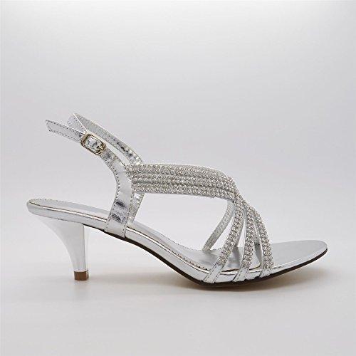 Sandali Silver Calzature Da Donna London Athenais q18nWE