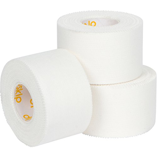 Athletic Tape in White, Ultra breathable Sports Tape with Zigzag Edge for Easy Tearing, Made from 100% hospital grade Cotton, Latex free zinc oxide adhesive, 1.5 inch x 33 feet (3 Pack)