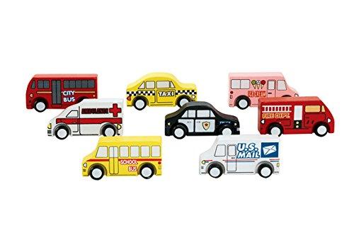 Excellerations Wooden Play Trucks - Set of 8 (Item # TRUCKS)