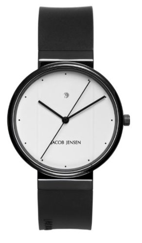 Jacob Jensen 752 Mens Black White Watch
