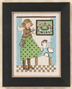 Girl Mumm Debbie (Angel Girls - Mocha Morning - Mill Hill Counted Cross Stitch Kit)