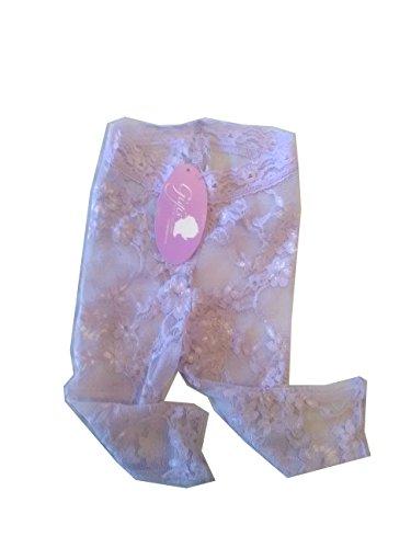 Gigi's Apparel Baby Stretch Lace Legging Tights (Lavender)