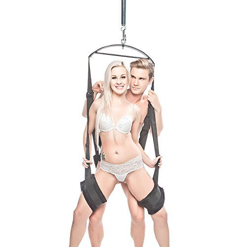 Qbuds Product: Stainless Steel Metal Multifunctional Spinning Hanging Swing, Bedroom Tool, Maximum Load 135KG, Black&Silver, Weight 4KG by UrChoice