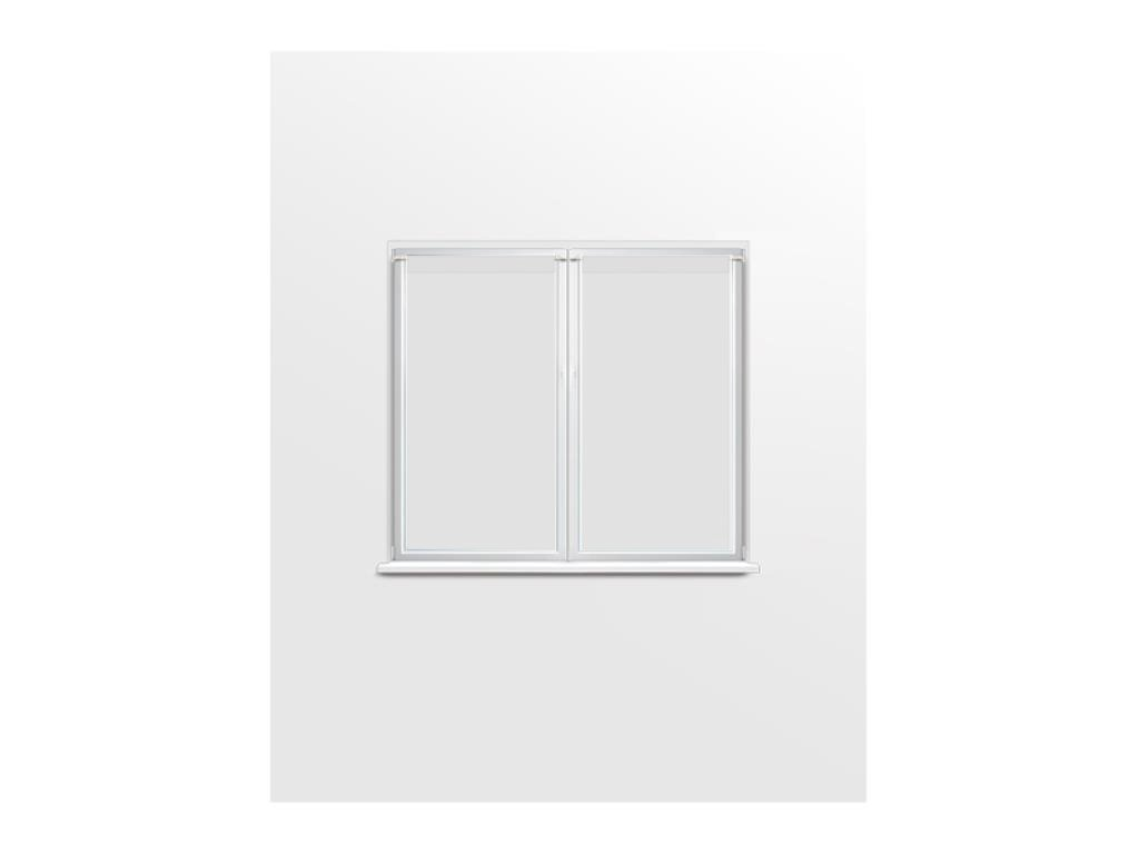 Coppia di tendine a vetro 70x90 cm DOLLY bianco 045553