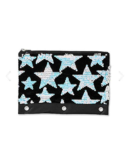 (Justice Girls Star Velvet & Flip Sequin Pencil Case Black)