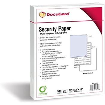 Amazon.com : Blue Security Prescription Paper - 250 Sheets ...