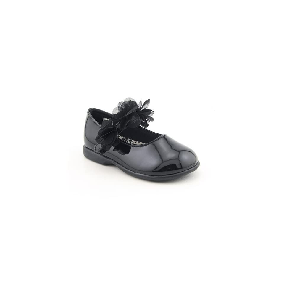 Baby Deer 2 6800 Black Shoes Infants Baby Toddler SZ 4