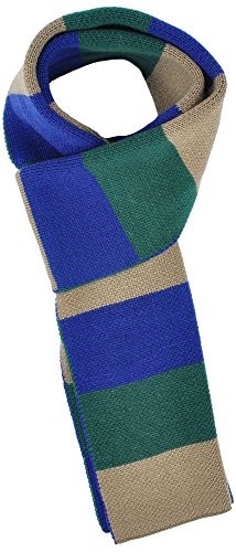 Simplicity Men/Women's Winter Long Rugby Knit Striped Scarf, Green Blue
