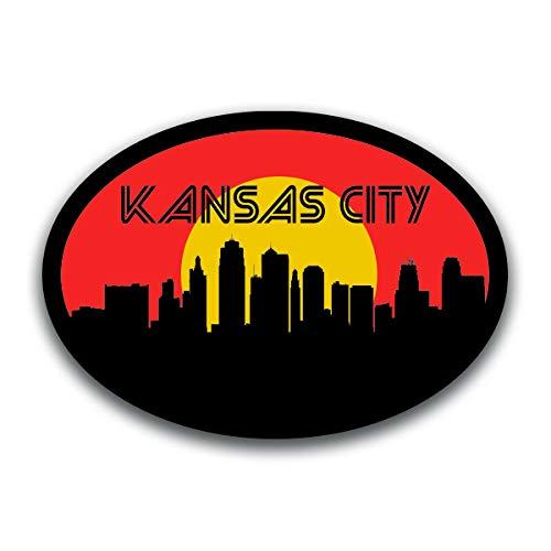Kansas City Missouri Vinyl Decal Sticker | Cars Trucks Vans SUVs Windows Walls Cups Laptops | Full Color Printed | 5.5 Inch | KCD2560